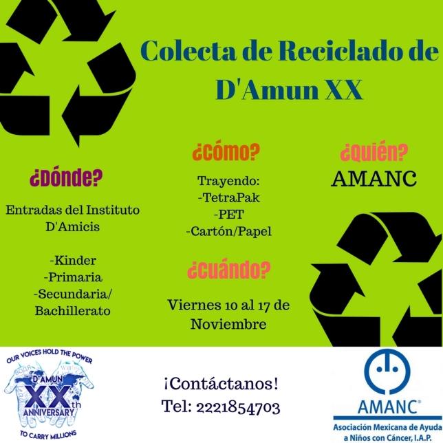 Colecta de Reciclado de DAmun XX